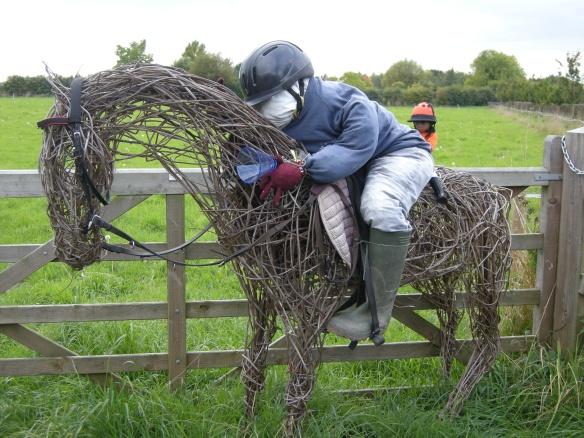 Jockey and race horse 001