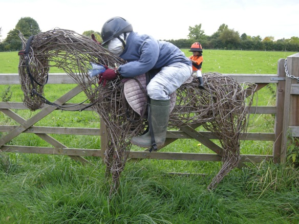 Jockey and race horse 002