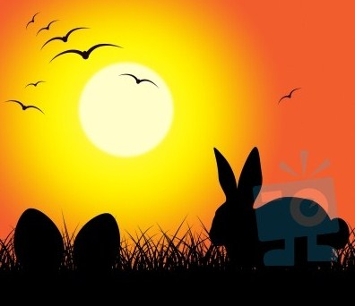 easter-eggs-indicates-bunny-rabbit-and-copy-100281138