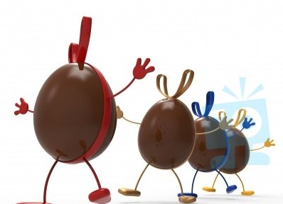 easter-eggs-indicates-gift-ribbon-and-chocolate-100277222